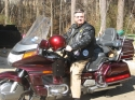 Louis Fleming and his Honda Goldwing